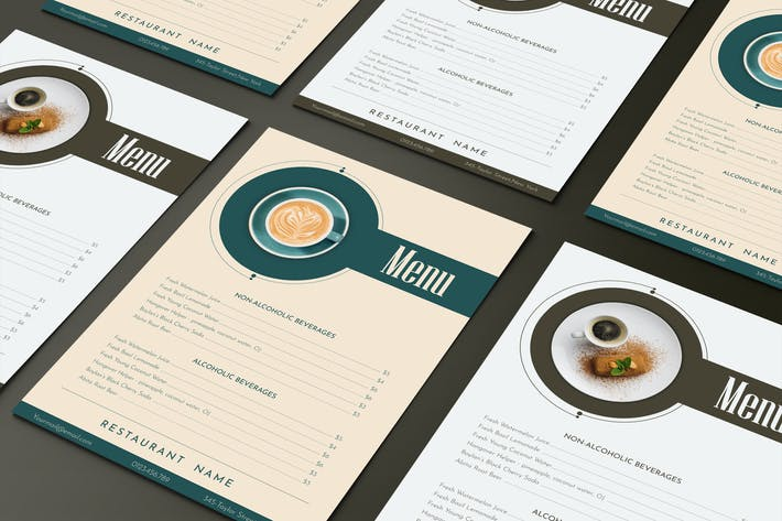 Thumbnail for Drinks Menu Template