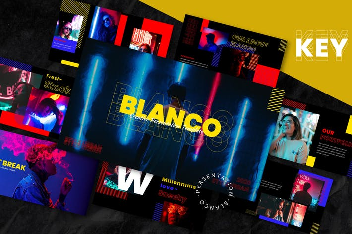 Blanco - Шаблон Keynote