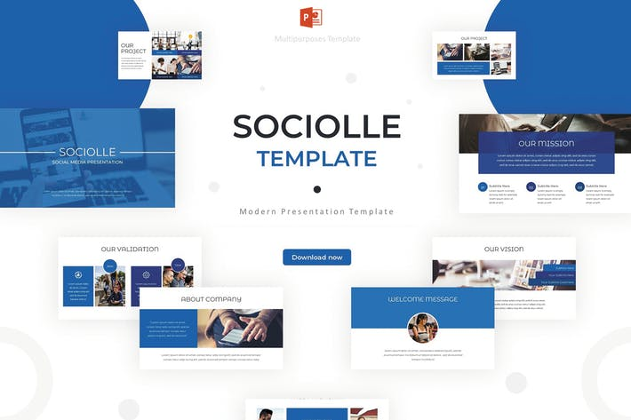 Thumbnail for Sociolle - Powerpoint Template