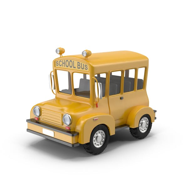 Cover Image for Cartoon School Bus