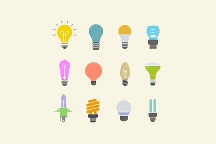 12 Light Bulb Icons