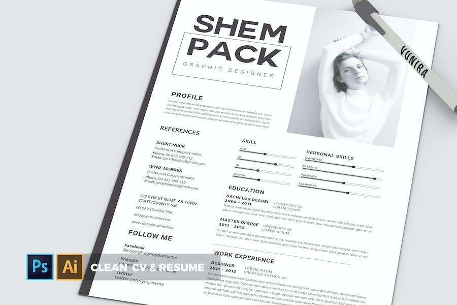 Clean   CV & Resume
