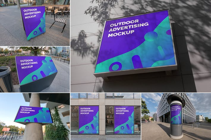 Cover Image For Outdoor Advertising Mockups Vol. 5