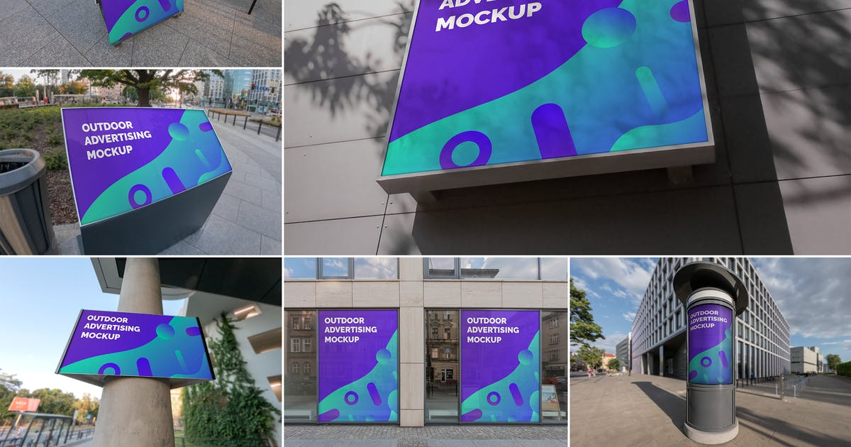Download Outdoor Advertising Mockups Vol. 5 by MintMockups