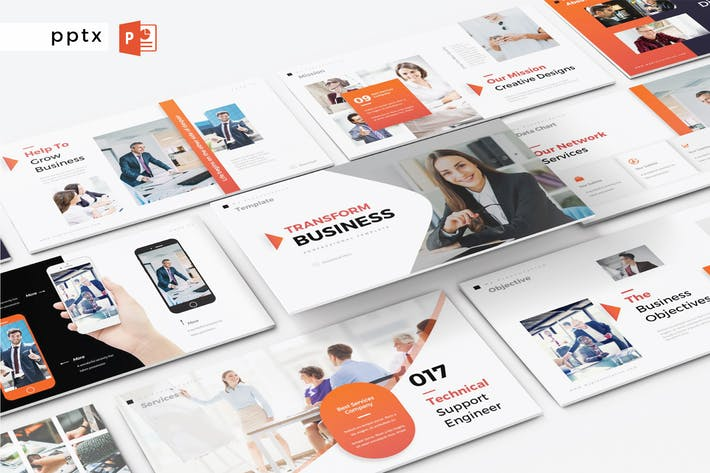 Cover Image For TRANSFORM BUSINESS - Powerpoint V323