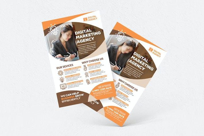 Thumbnail for Digital Marketing Agency Flyer