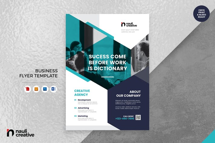 Thumbnail for Corporate Business Flyer AI, DOC, & PSD Vol.39