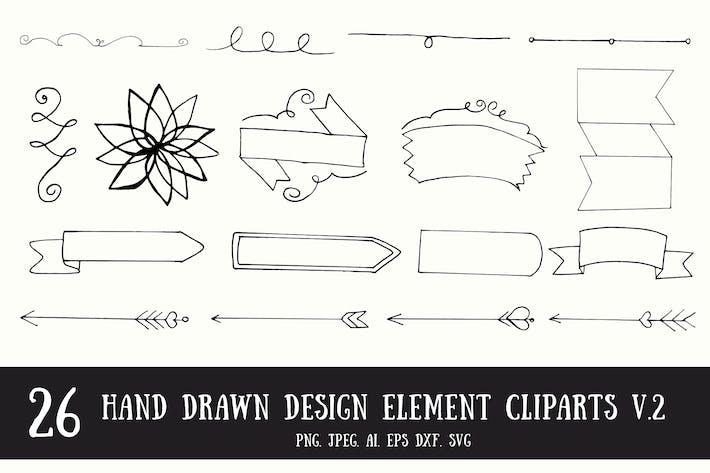 Thumbnail for 20+ Handmade Design Element Cliparts V.2