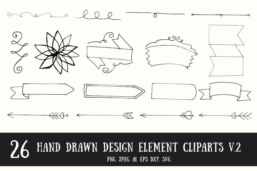 20+ Handmade Design Element Cliparts V.2
