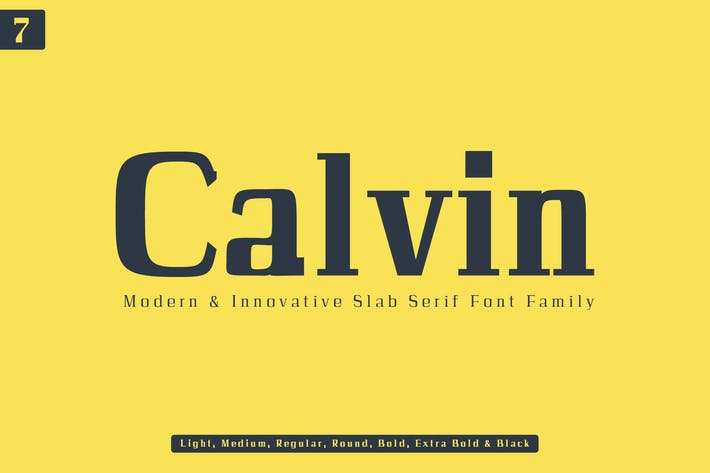 Thumbnail for Calvin Slab Con serifa Familia tipográfica