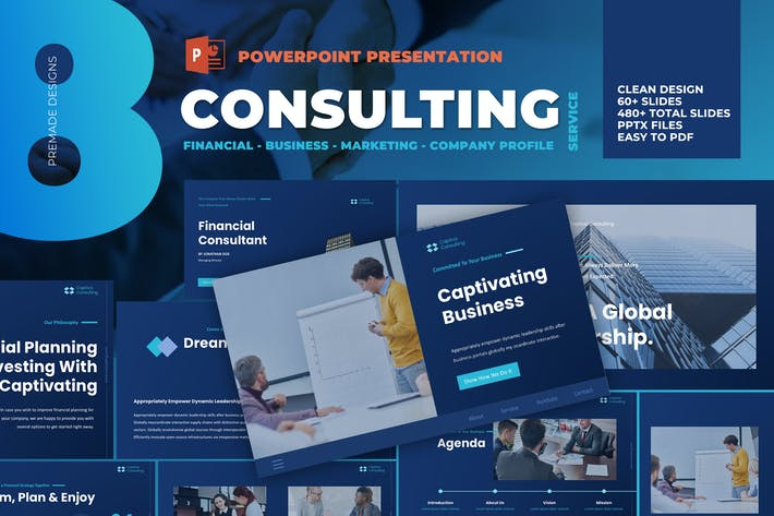 Thumbnail for Business Consulting Powerpoint Template