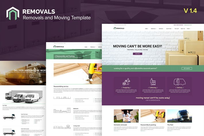 Cover Image For Removals - Removals and Moving Template