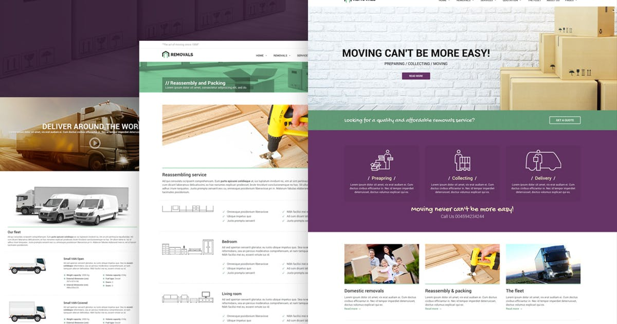 Download Removals - Removals and Moving Template by Ansonika