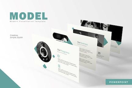 Model - Powerpoint Template