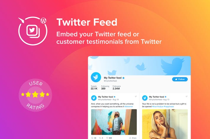 Cover Image For WordPress Twitter Feed Plugin
