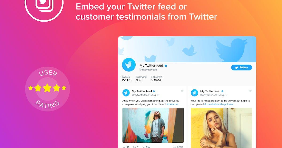 WordPress Twitter Feed Plugin by Elfsight