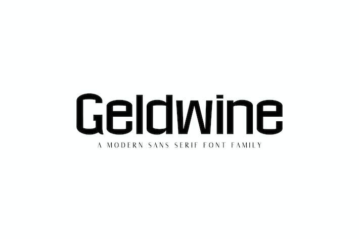 Thumbnail for Geldwine Sans Serif Font Family
