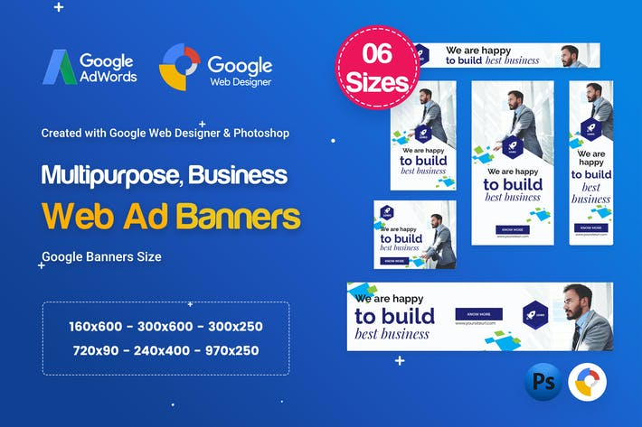 Cover Image For Multi-Purpose Banners HTML5 D72 Ad - GWD & PSD