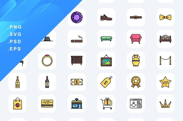 50 Luxury Shop Icons