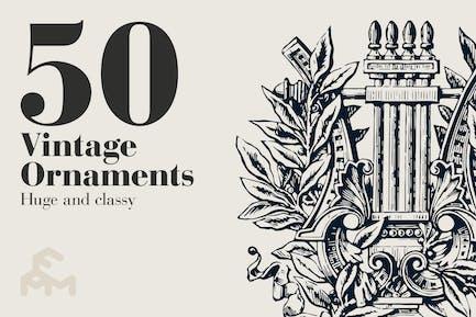 50 adornos Vintage.