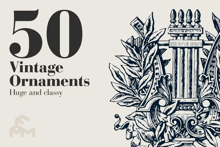 Thumbnail for 50 Vintage Ornaments