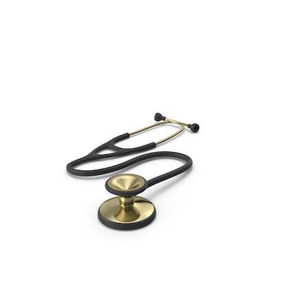 Estetoscopio negro y dorado