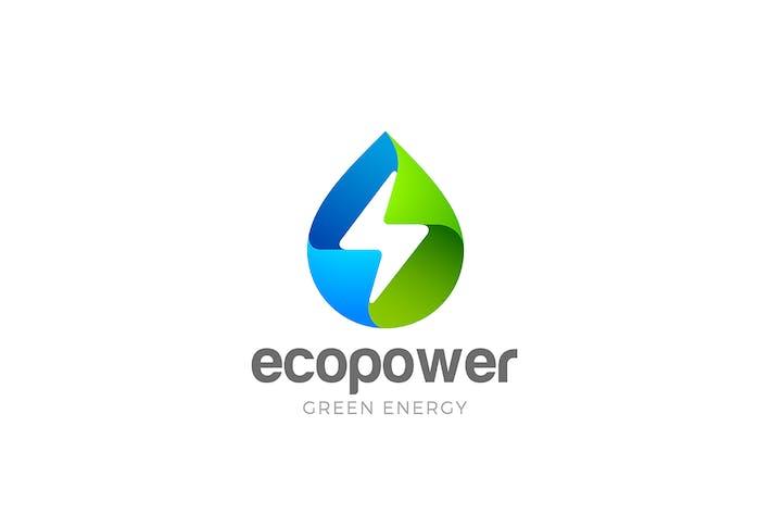 Thumbnail for Logo Green Energy Eco Droplet