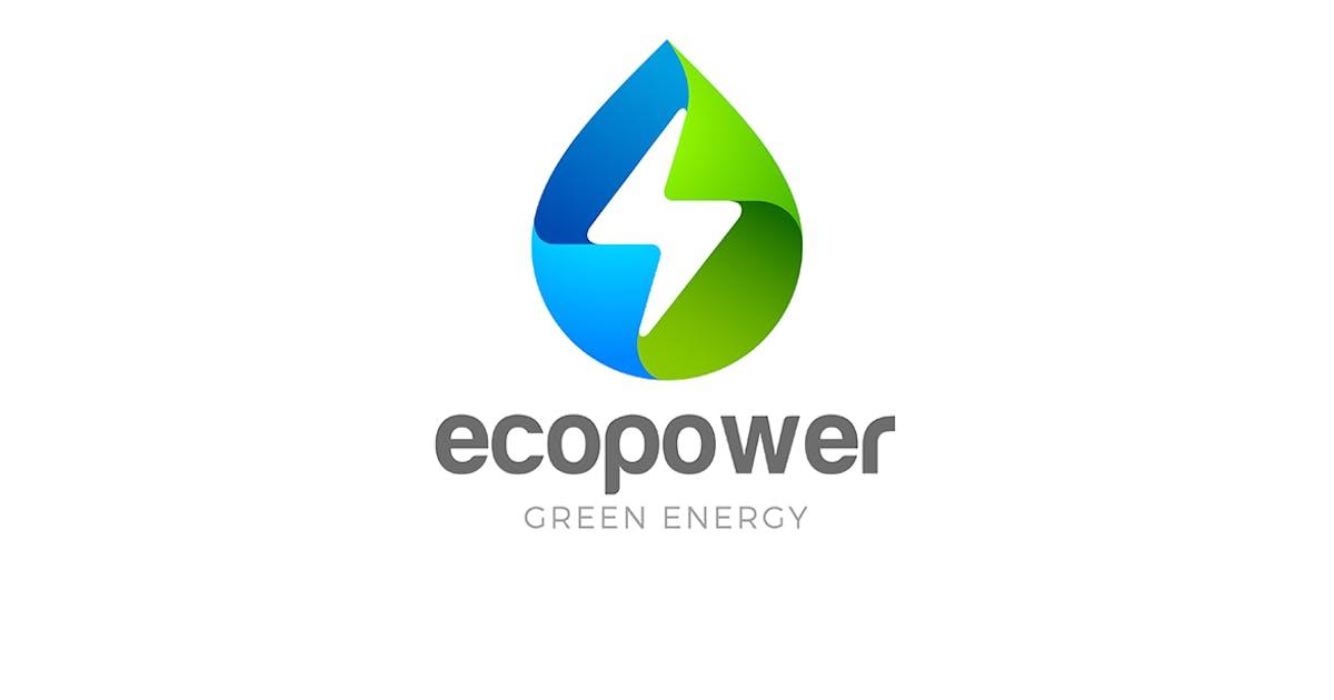Download Logo Green Energy Eco Droplet by Sentavio