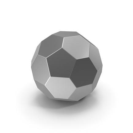 Sechseck-Kugel Silber