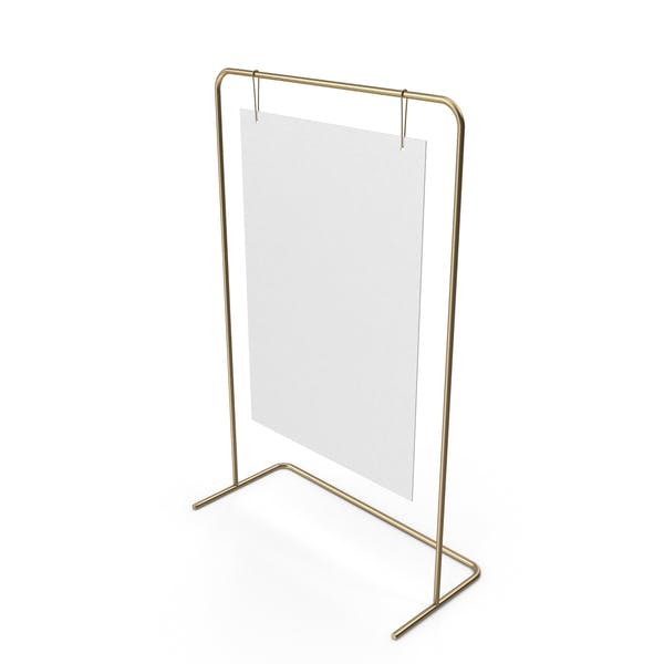 Gold Sign Stand