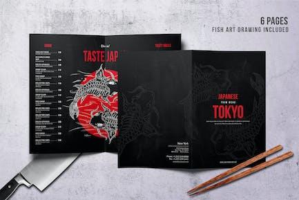 Japanese Bifold A4 & US Letter Menu Design