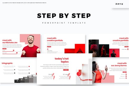 step by - powerpoint Template