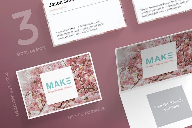 Beauty Salon Business Card Template