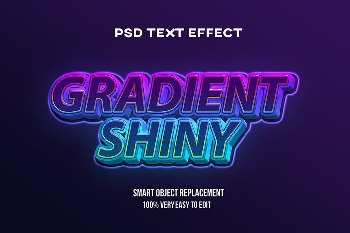 Gradient shiny text effect