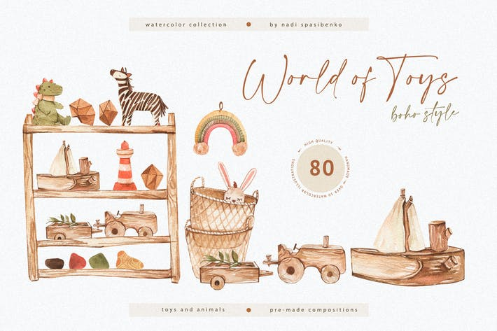 Thumbnail for Watercolor World of Toys