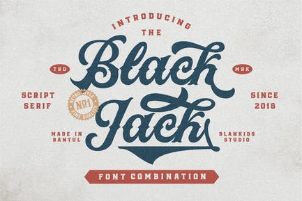 Black Jack - Vintage Font
