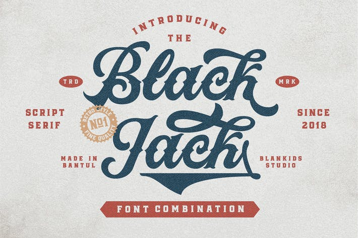 Thumbnail for Black Jack Script and Serif