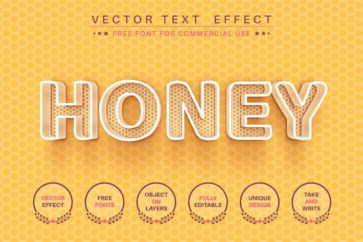 Honeycomb - редактируемый текстовый эффект, стиль шрифта