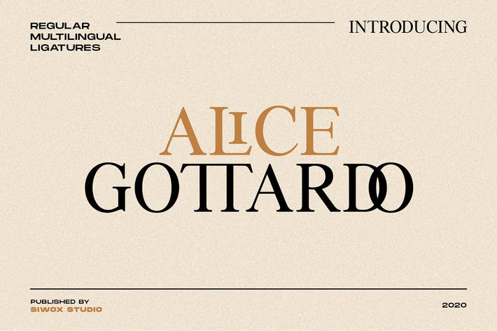 Thumbnail for Alice Gottardo // Ligatures Fonts