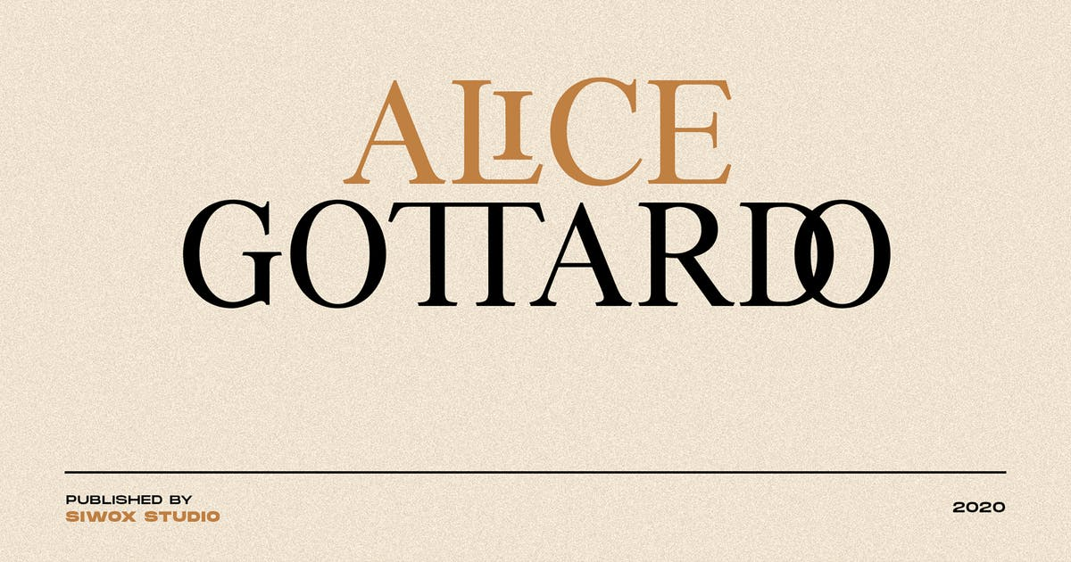 Download Alice Gottardo // Ligatures Fonts by Siwox
