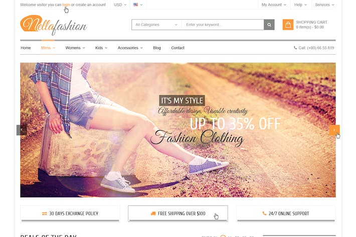 Cover Image For Nella fashion - Responsive Magento Theme