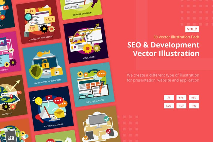 Thumbnail for SEO and Development Vector Illustration Vol 2