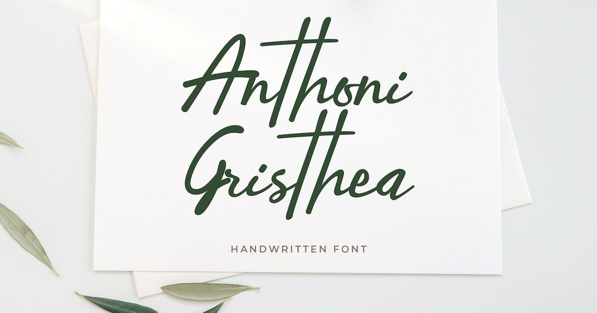 Download Anthoni Gristhea Handwritten Script by uicreativenet