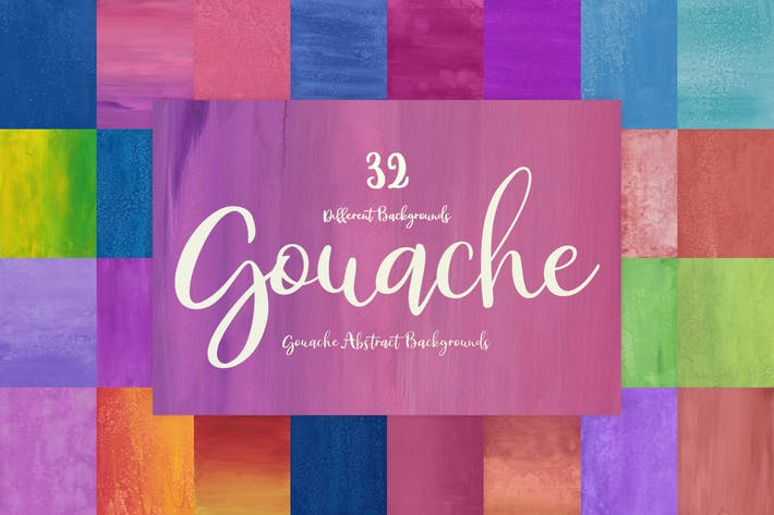 Thumbnail for Gouache Abstract Backgrounds - Different Colors