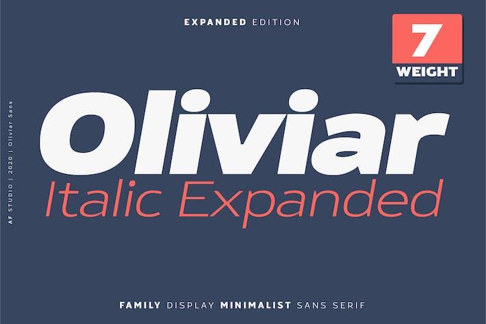 Thumbnail for Oliviar Cursiva Expandida