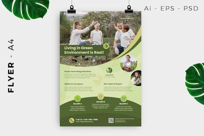 Thumbnail for Green Living Resindential Flyer Design