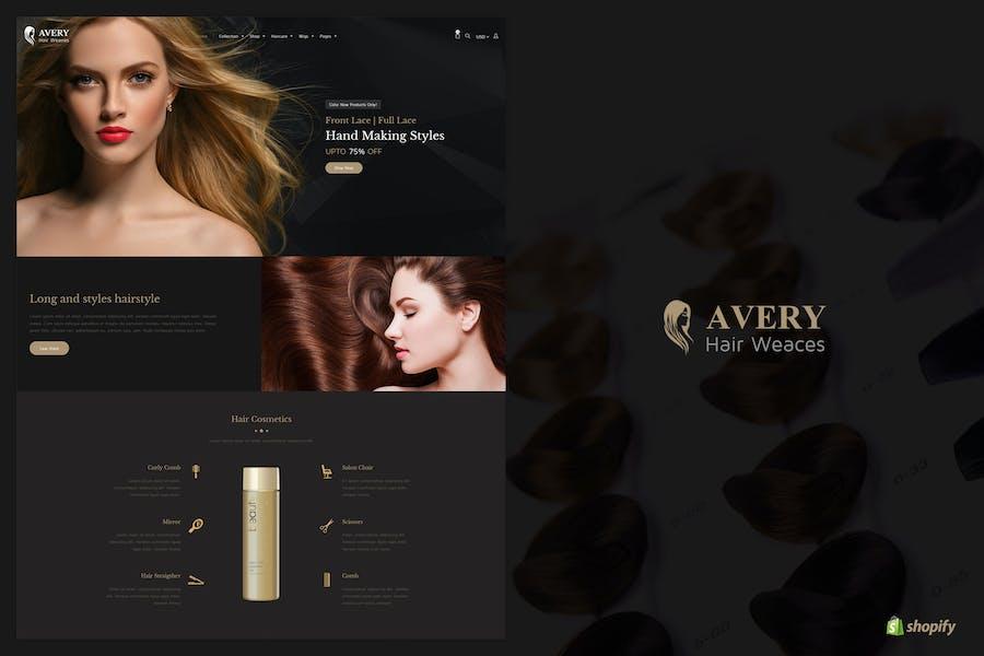 Avery | Peluca de pelo Shopify Tema