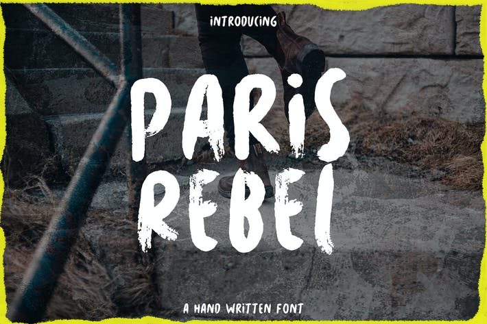 Thumbnail for Paris Rebel - Rough Handwritten Font