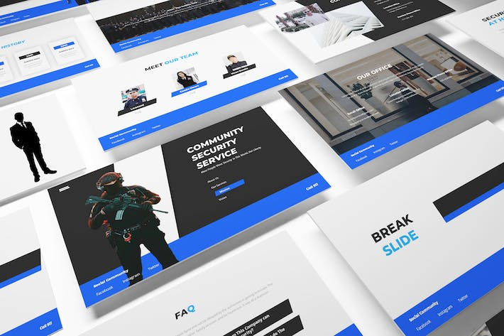 Thumbnail for Security Guard Powerpoint Template