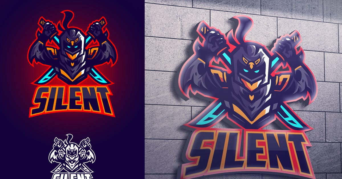 Download Ninja Knight Mascot Esports Logo by Suhandi